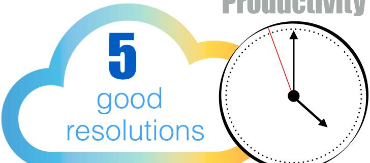 5 good resolutions 2015 productivity
