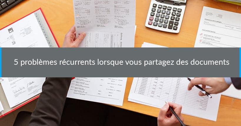 problemes partage de documents