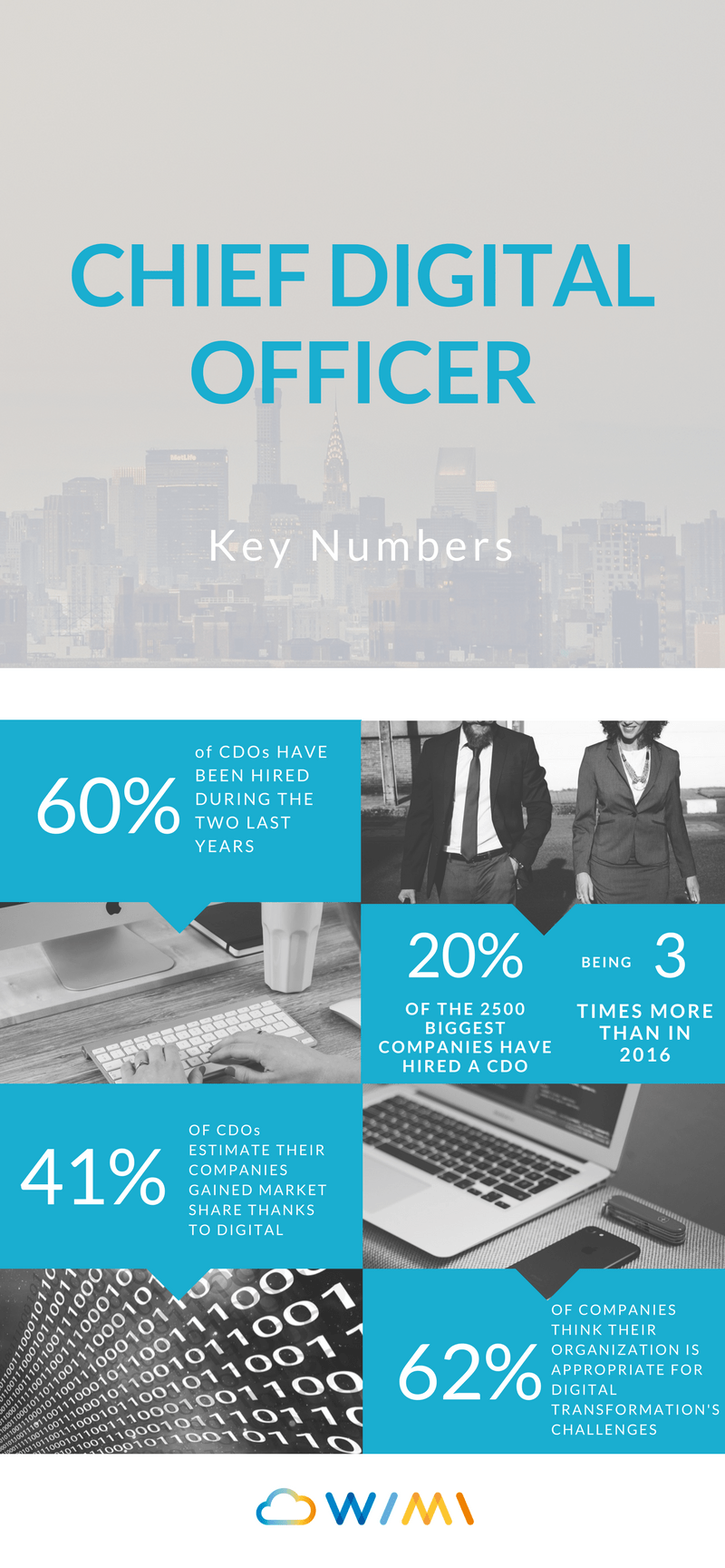 CDO Chief Digital Officer infographic key numbers