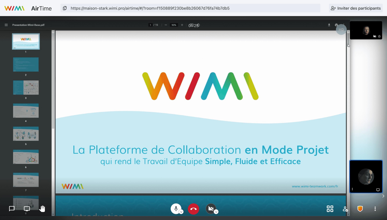 wimi air time visioconference partage ecran - Wimi